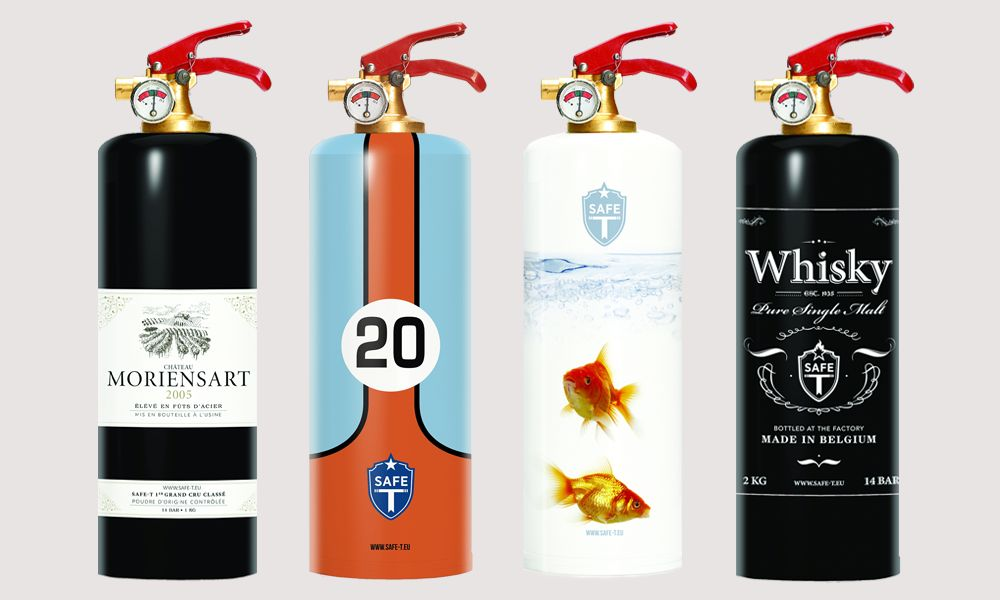 Safe-T designer fire extinguishers fuse safety with style