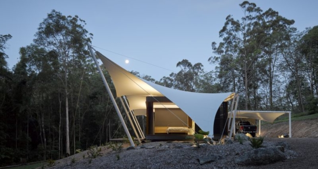Shapeshifter Tent House by Sparks Architects