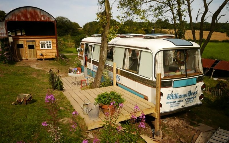 Bedford Panorama Bus transformed into a holiday paradise