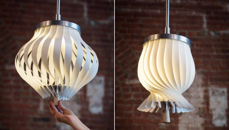 Twist pendent lamp by Leah K.S. Amick