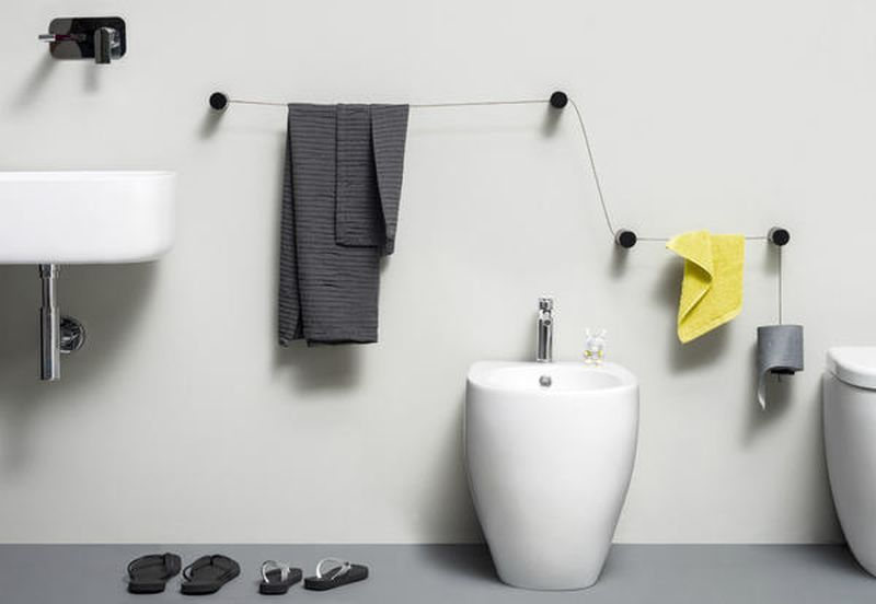 dot towel holder is ideal for both narrow and spacious bathr