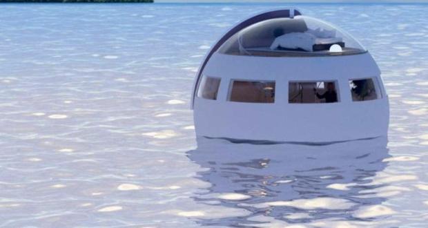 floating sleeping capsule japan