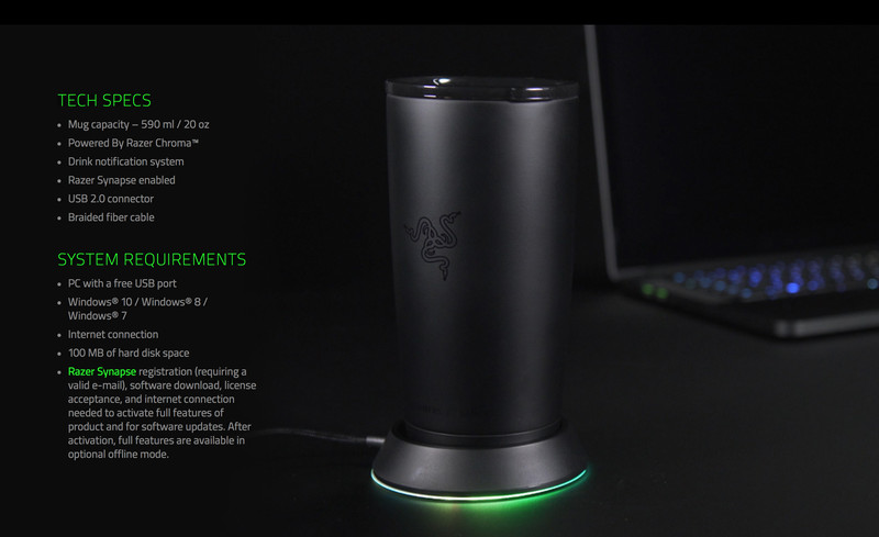 razer chroma mug holder