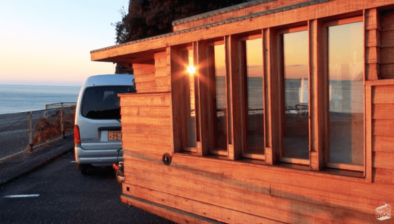 This tiny house on wheels takes cue from traditional Japanese rooms