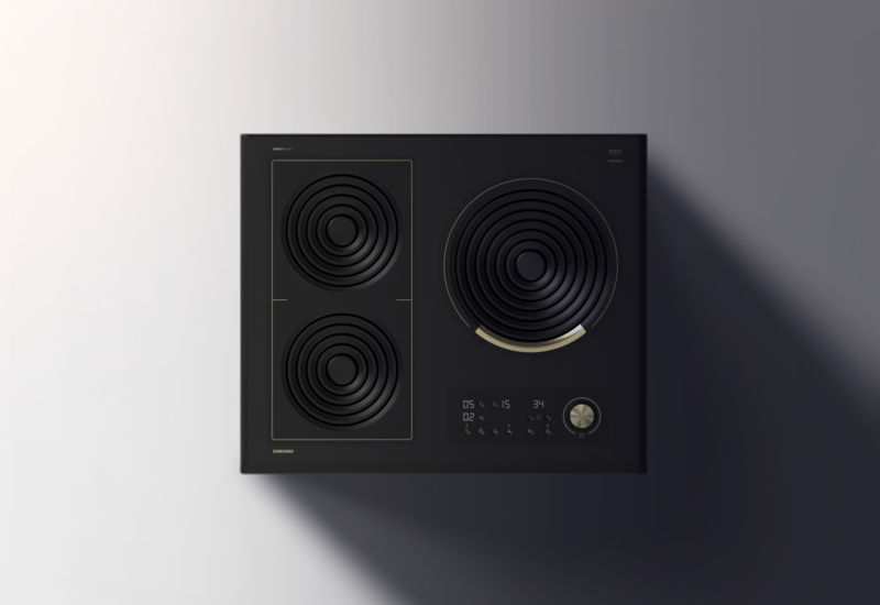 amphi induction cooktop features heat rings to fit woks