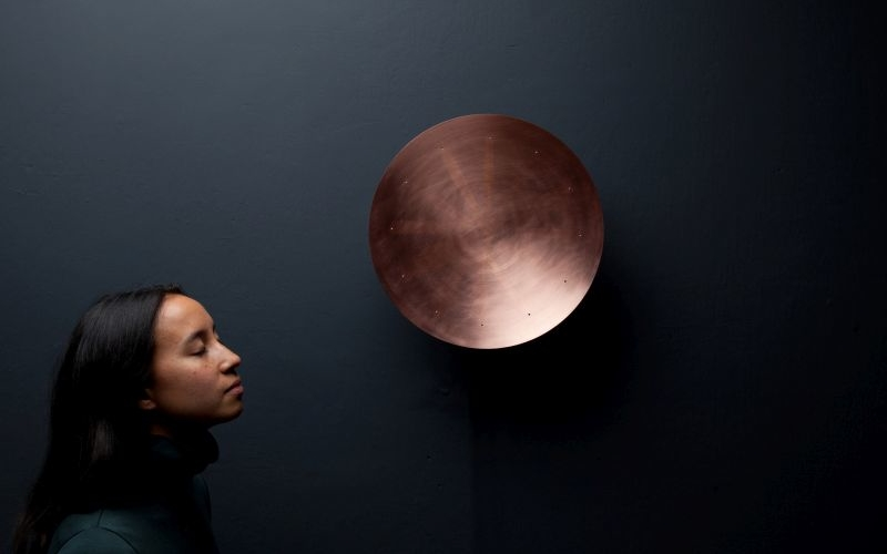 Patrick Palcic's copper clock uses fragrance to tell time