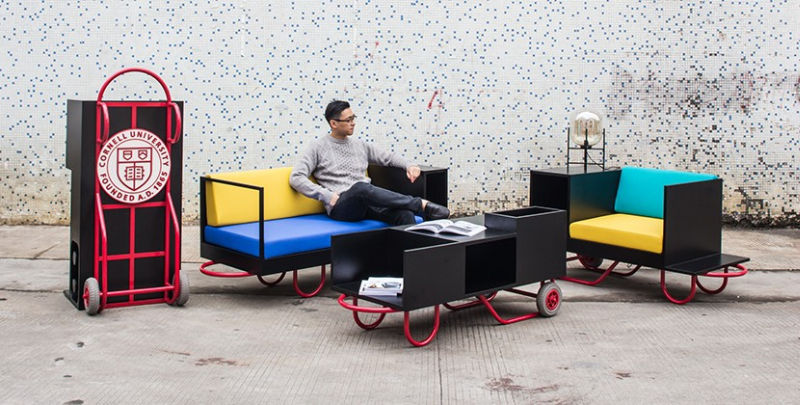 Wonderful Furniture With Wheels Is New Concept For Urban Dwellers