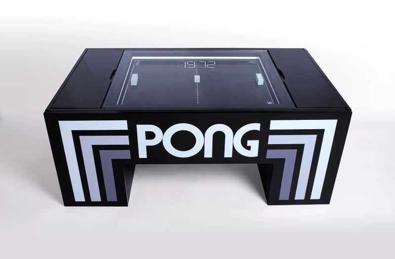 Gerardo Orioli Creates Reallife Atari Pong Coffee Table HomeCrux - Atari coffee table