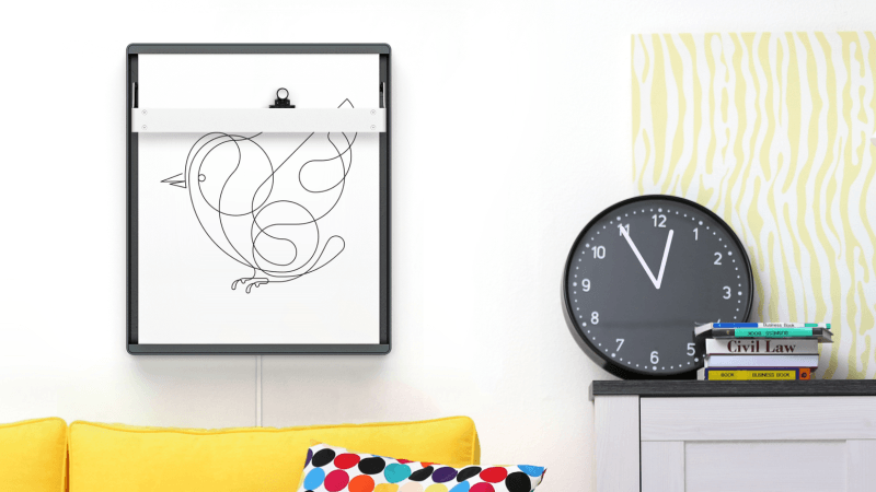 Joto robotic drawing board doubles as smart frame