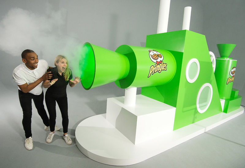 Kellogg's Pringles creates world's first edible air-dispensing machine