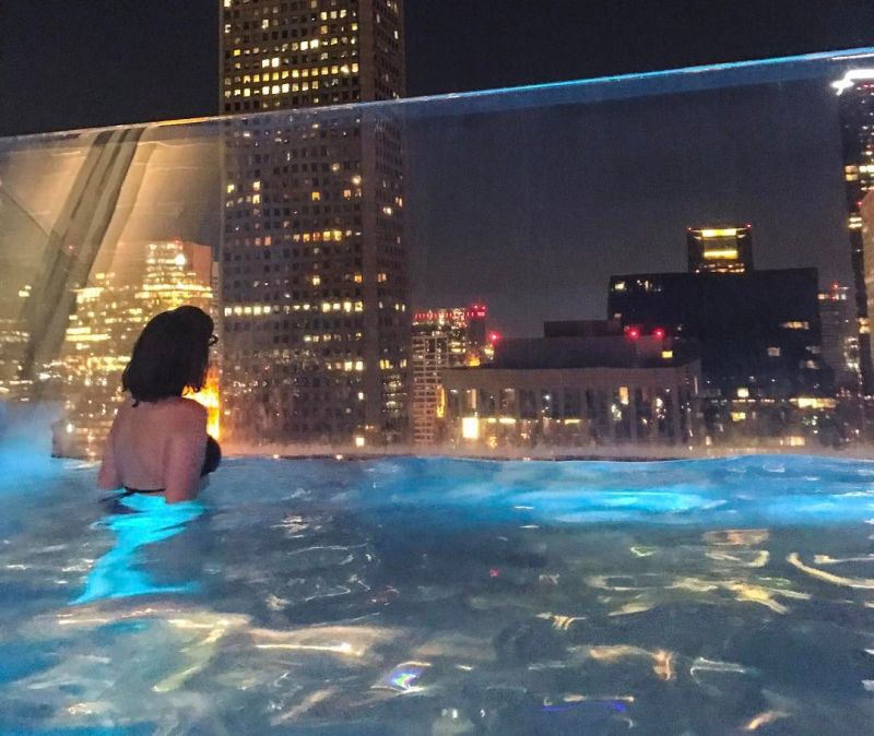 Market Square Tower's glass sky pool floats 500 ft above the ground