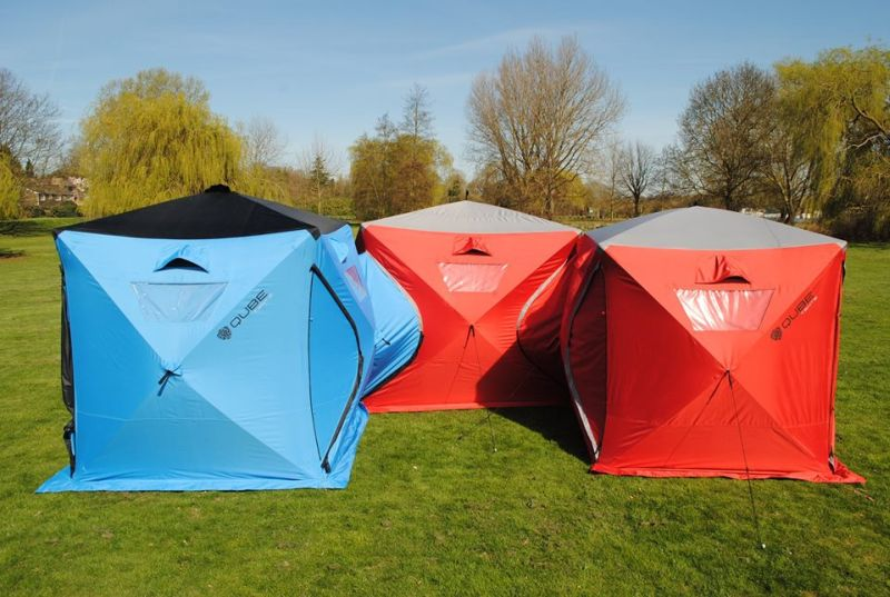 Qube quick pitch tents interconnect to expand campsite