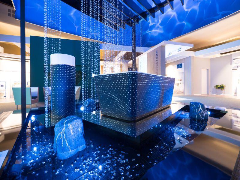 Squaro bathtub by Villeroy & Boch gets luxury makeover with Swarovski crystals