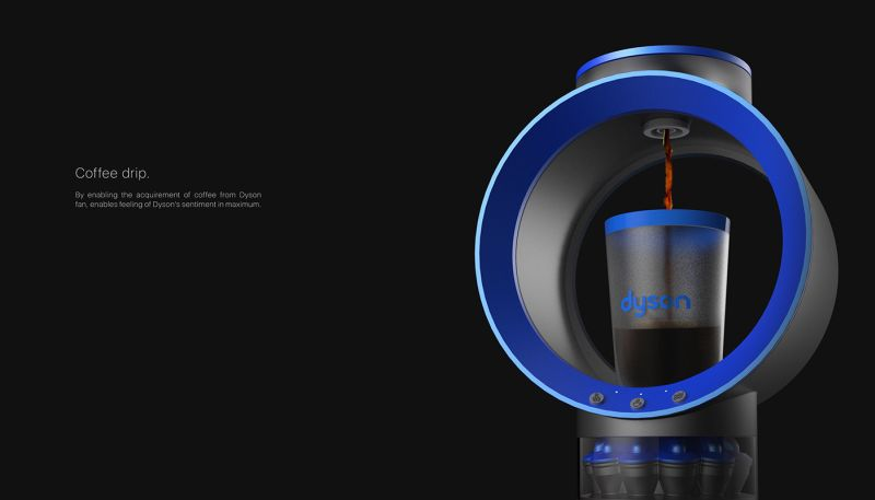This coffee machine takes a cue from Dyson's hubless fan