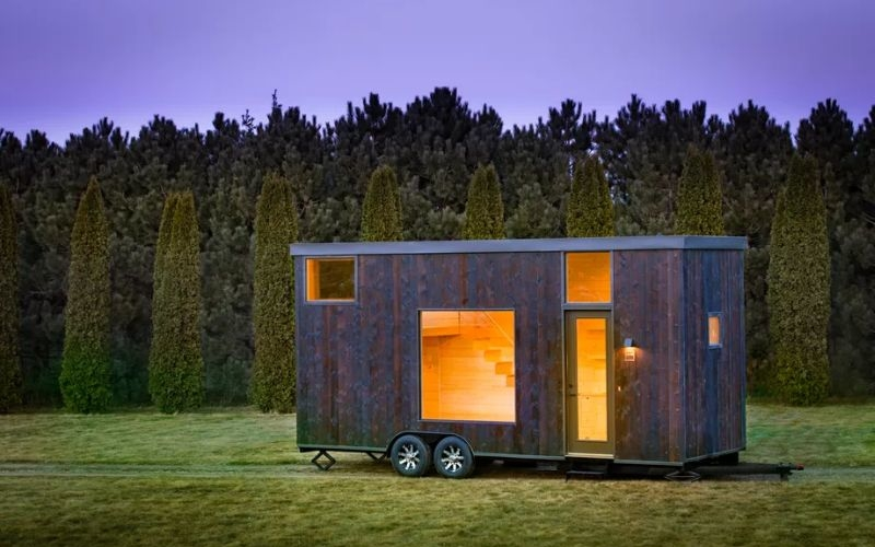 Escape Traveler's trailer home has Shou Sugi Ban style exteriors