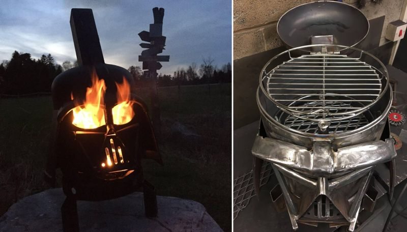 Vader Q Wood Burner and BBQ