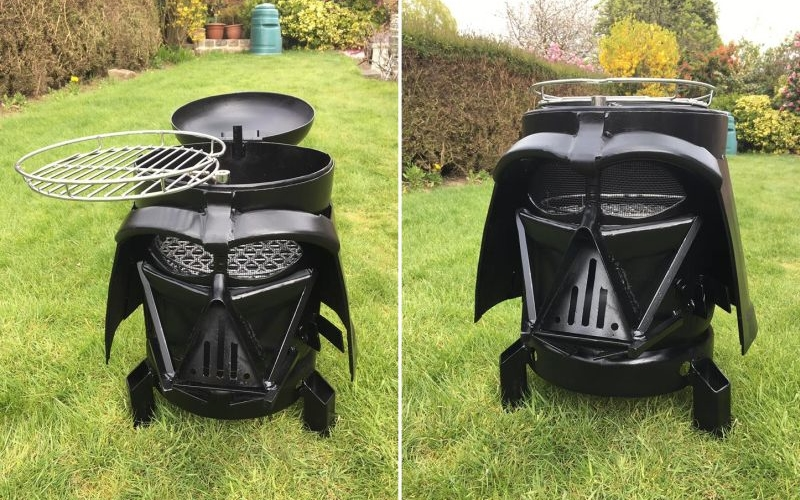 Vader Q: Dual-purpose wood burner and BBQ for Star Wars lovers