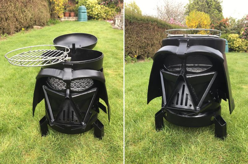 Vader Q Dual Purpose Wood Burner And Bbq For Star Wars Lovers