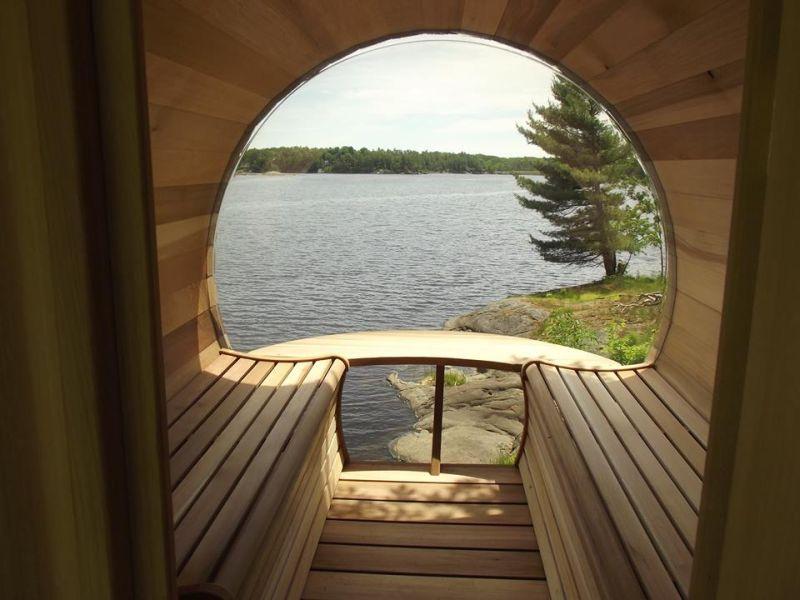Dundalk Leisure Craft S Barrel Sauna Lets You Steam At