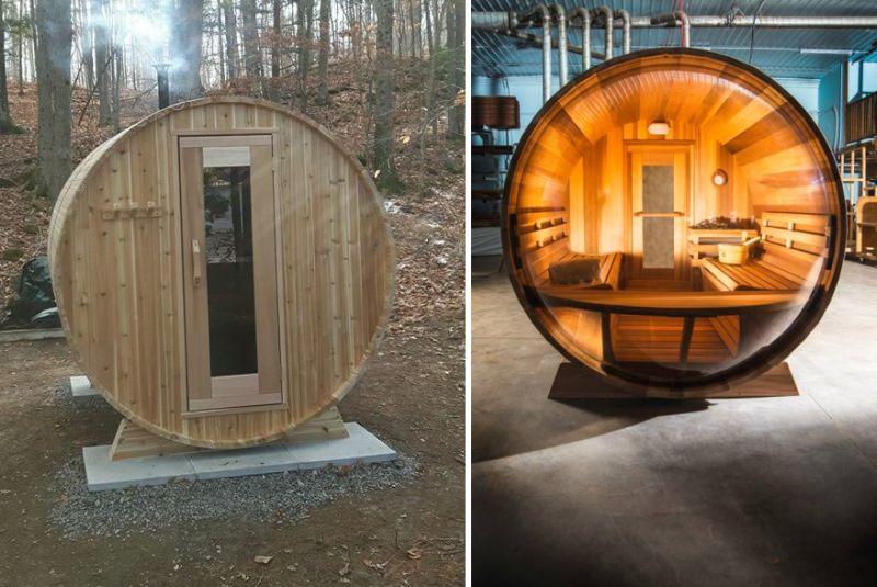 cedar barrel sauna