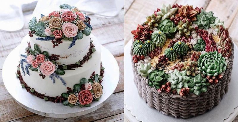 iven oven flower cakes