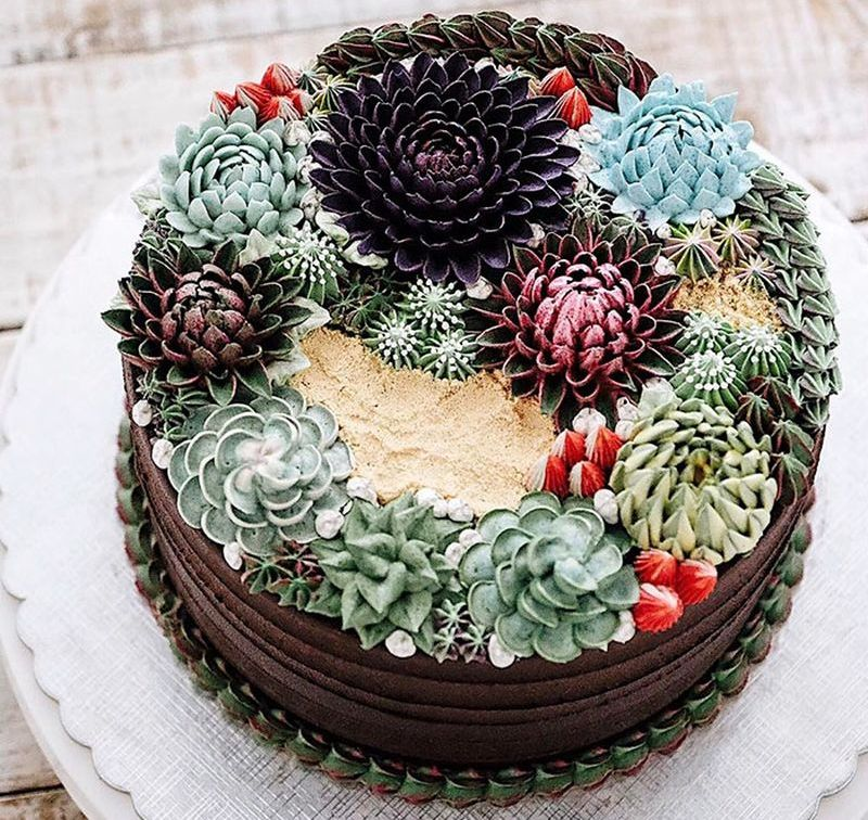 Iven Kawi 3D flower cakes