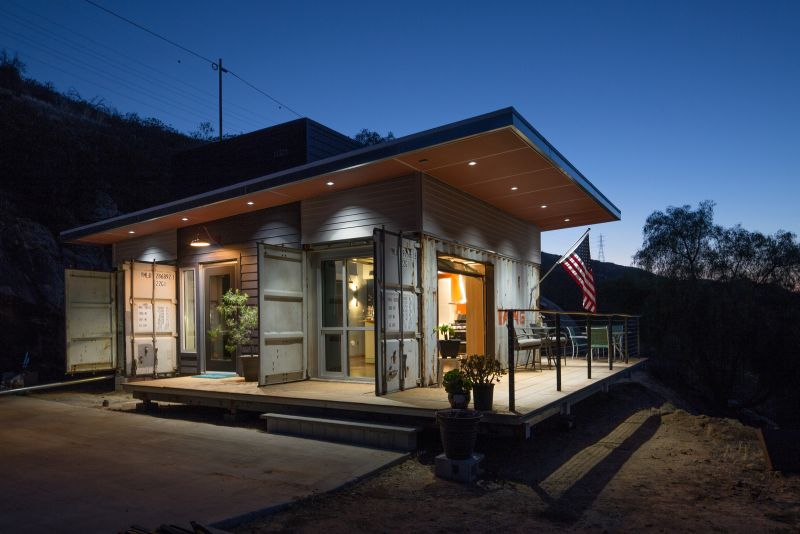 A Rustic Shipping Container Home