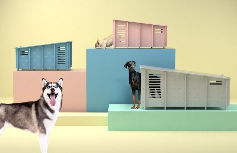 Barkitecture's waterproof flat-pack dog home