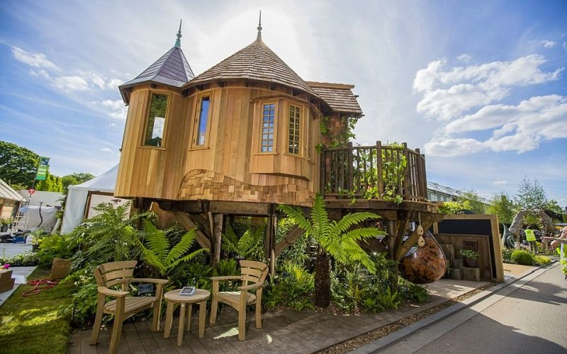 Blue Forest's exquisite treehouse turns eyeballs at Chelsea Flower Show