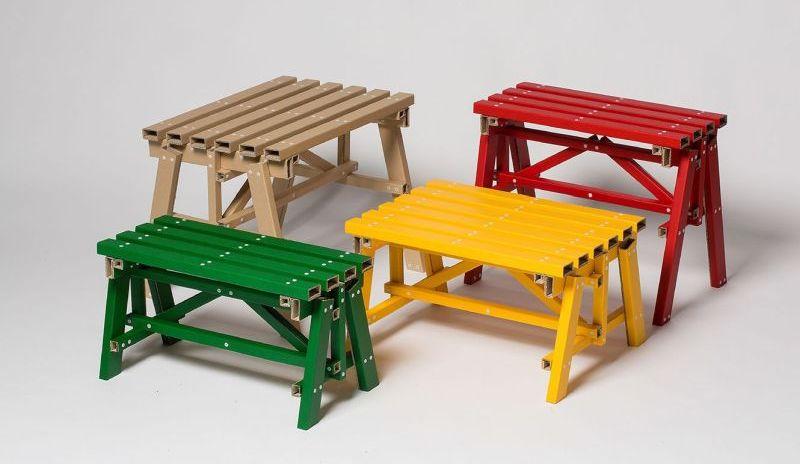 Flat pack lumber by Seoul-based studio PESI