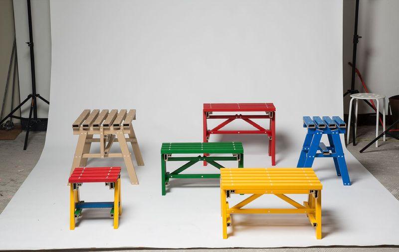 Cardboard Flat Pack Lumber Table