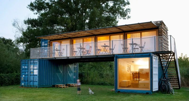 Container hotel by Artikul Architects