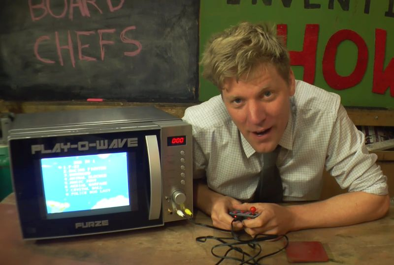 Crazy Colin creates 'Game Console Microwave' DIY