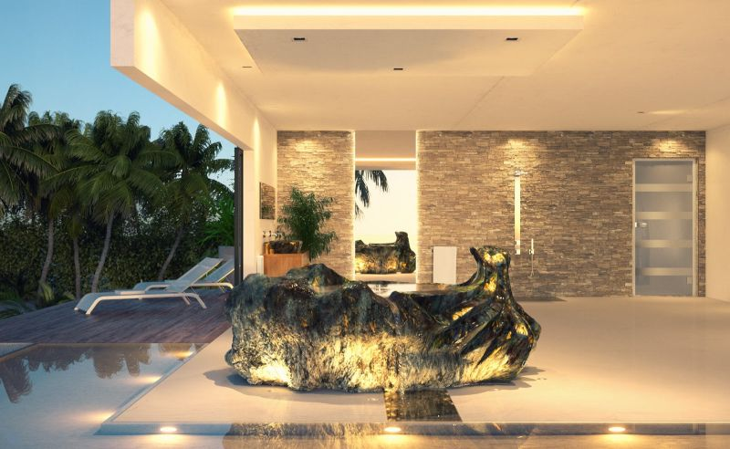 Gemstone Bath Sculpture by Jan-Carel Koster