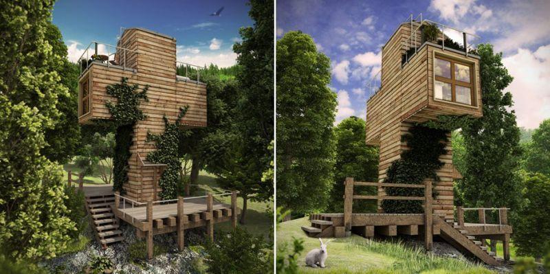 Dachi Papuashvill's cross-shaped micro home