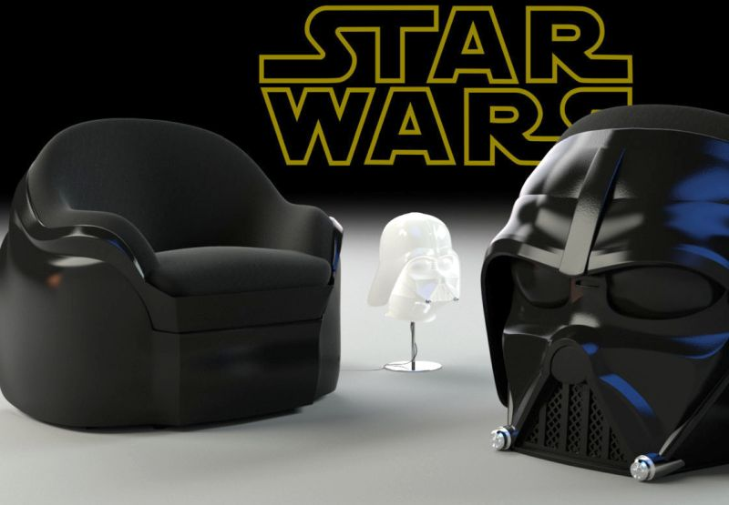 Darth Vader Dark Side Armchair Offers Out Of This World Relaxation