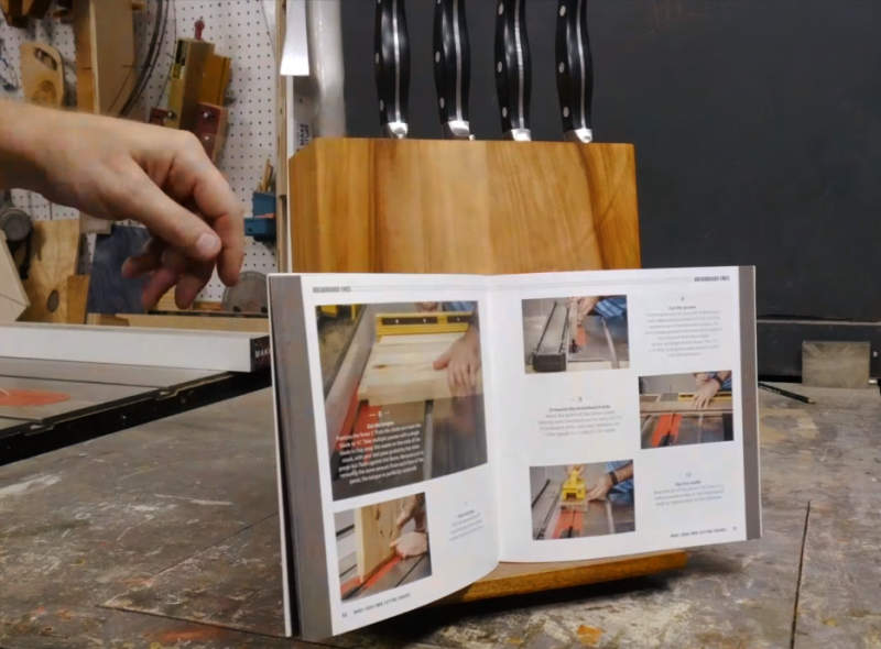 Easy Diy Make Wooden Knife Block That Holds Your Cookbook