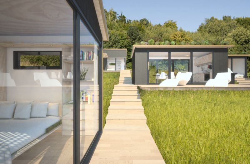 Modern living spaces by Eco Pod Concepts