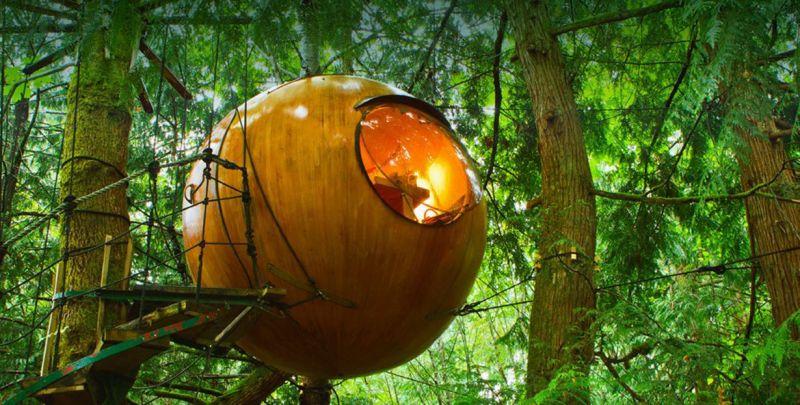 Free Spirit Spheres treehouse hotels Canada