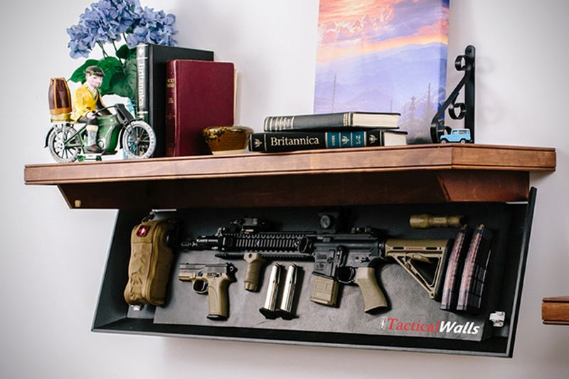 Hidden wall shelves by TacticalWalls