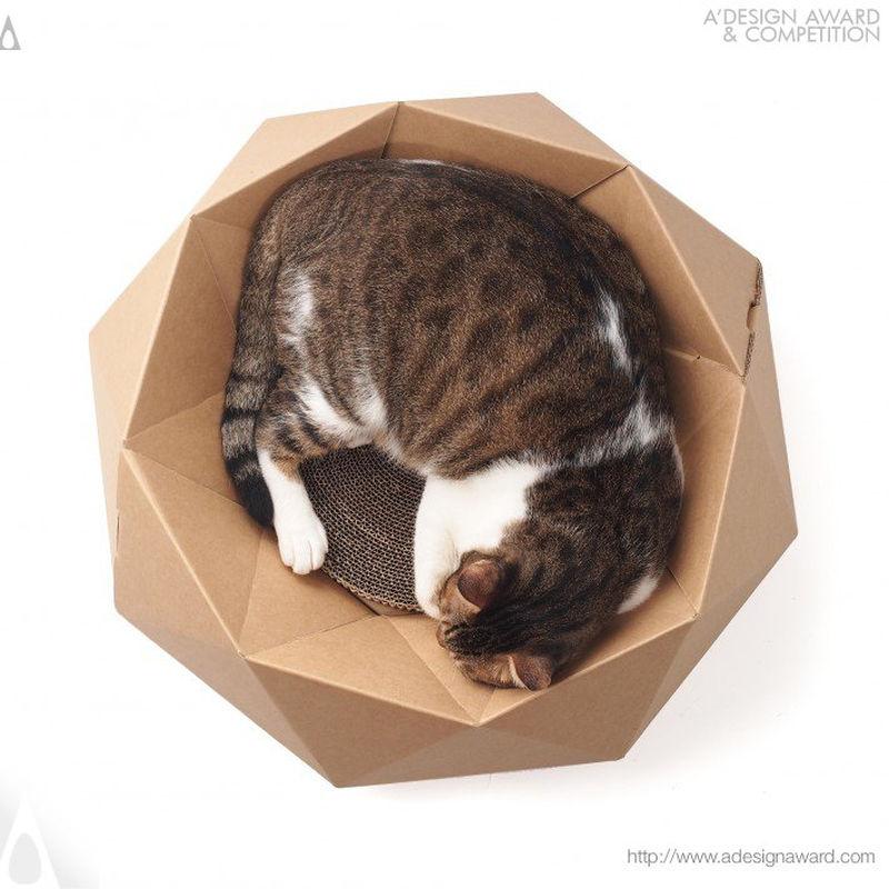 Hulumao Diamond cat bed by Shih-Chang Hsiao & Yu-luen Huang