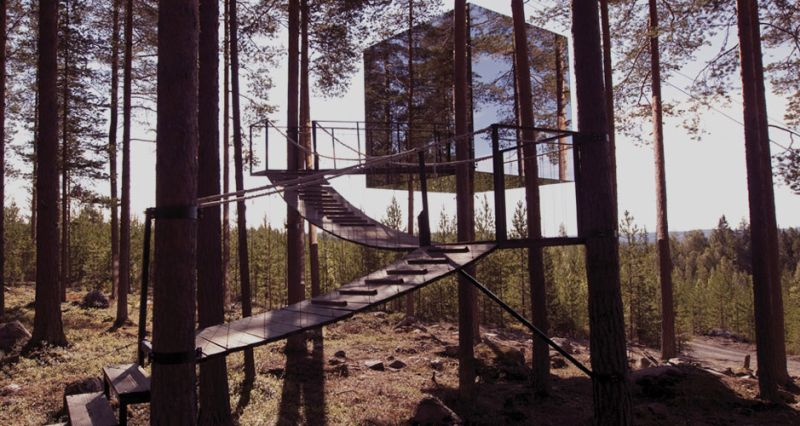 Mirrorcube at Treehotel Sweden