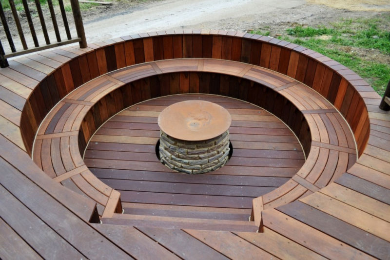 Nook Treehouse Features Sunken Fire Pit In The Middle Of