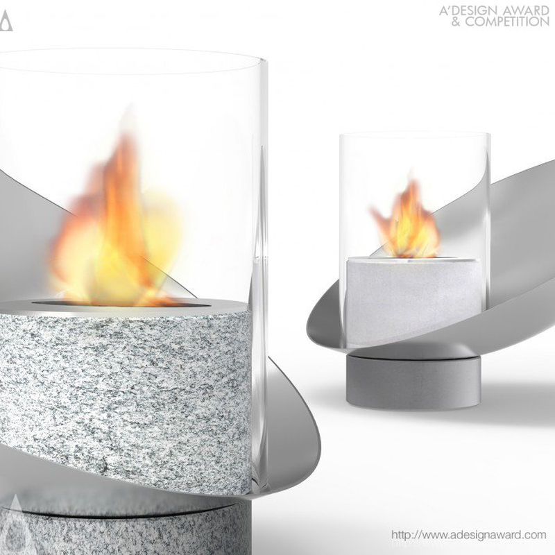 Piro portable bio-ethanol fireplace by Vito Noto Industrial Design