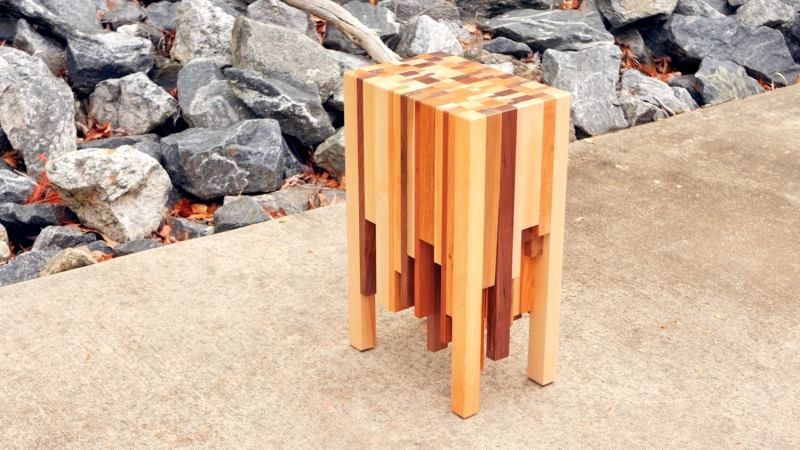 DIY Project How To Build Elegant End Table Using Scarp Wood - How to build an end table
