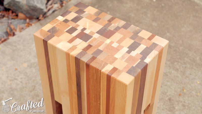 Scrap Wood End Table