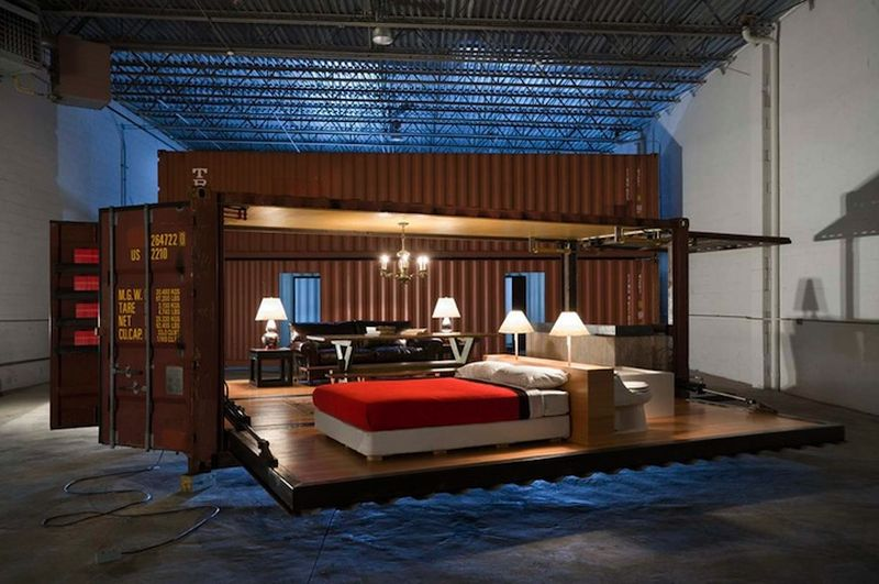 Shipping Crate Transforms into a Home