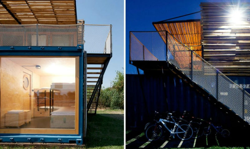 Shipping container hotel by Artikul architects can be moved to different locations