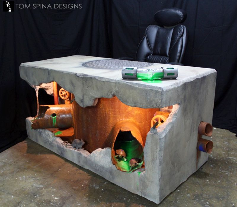 Teenage Mutant Ninja Turtles-inspired desk by Tom Spina Designs