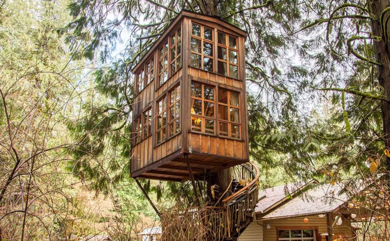 The Trillium at Treehouse Point near Seattle, Washington
